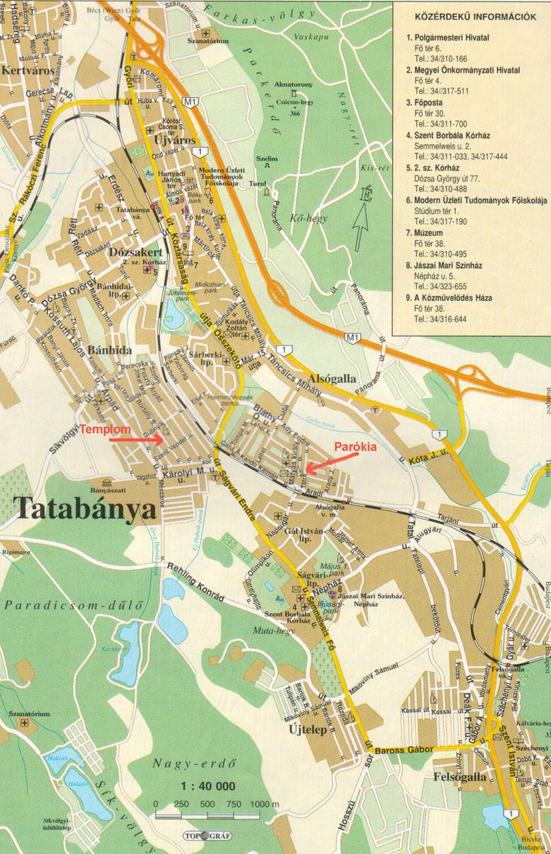 térkép tatabánya Tatabánya térképe térkép tatabánya